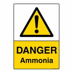Safety Sign Store Danger: Ammonia Sign Board, CW111-A4PC-01