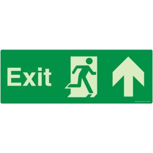 Safety Sign Store Exit Up Sign Board, NG103-1442NGR-01