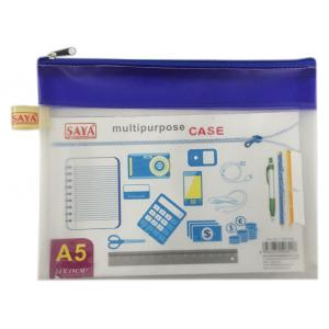 Saya Blue My Zip Bag-A4 (Pack of 5)
