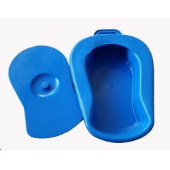 Shakuntla Blue Adult Bed Pan with Cover