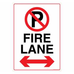 Safety Sign Store Fire Lane Sign Board, FE319-A3NGR-01