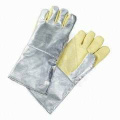 Ufo 350g Aluminized Kevlar Heat Resistant Yellow Safety Gloves, Size: M