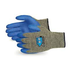 Sunlong Latex Palm Coated Cut Resistant Blue & Grey Safety Gloves, Size: XL
