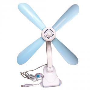 Kawachi K59 Sky Blue & White 4 Blades Adjustable Clip Fan