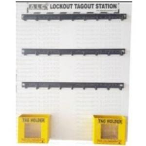 Asian Loto ALC-LSOB Open Lockout Station For 27 Padlock Along With Two Pockets To Keep LOTO Tags