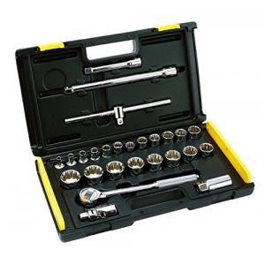 Stanley 26 Pieces Imp 1/2 Inch Square Drive 12 PT Socket Set, 86-478-12