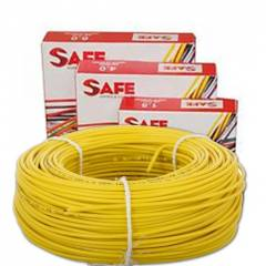 Safe 4.0 sqmm Single Core 90m Yellow HRFR PVC Industrial Cables, S5630