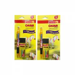 Camlin Kokuyo Colour Pen Pencil, 4147299 (Pack of 2)