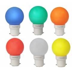 Pyrotech 0.5W LED Deco Multicolor Bulb, PELB0.5X6M (Pack of 6)