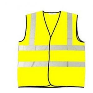 Ziota Yellow Reflective Safety Jacket, Tape Reflectivity: 1 Inch, GKJ06 (Pack of 10)