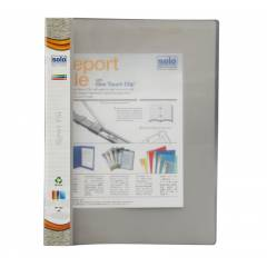 Solo Report File (Transparent Top), RF102, Size: A4, Colour: Grey (Pack of 10)
