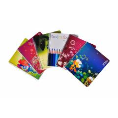 Oddy Spiral Note Pad 5 colours, SP4480 5S (Pack of 6)