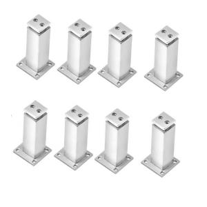 SmartShophar 3 Inch Stainless Steel Silver Square Door Magnet, 65055-SDMS-SS-P8 (Pack of 8)