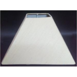 Aadhya Creations AC Small Square Tapered White Lamp Shade, AC13LS044