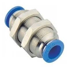 Pneumax Equal Union Straight Connector PPU6G, Outer Diameter: 6 mm