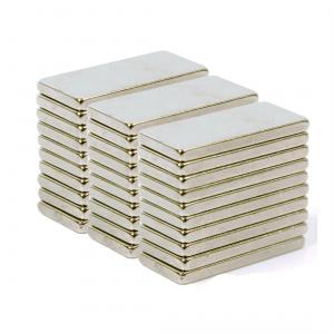 Neomag 33BNM N35-Ni Rectangle Shaped Silver Neodymium Magnet, Thickness: 2 mm (Pack of 30)