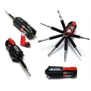 Evergreen 8 In 1 LED Torch Portable Screw Driver Tool Kit