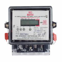 RC Bentex 5-20 A AC Single Phase Two Wire Static Energy Meter with LCD Display