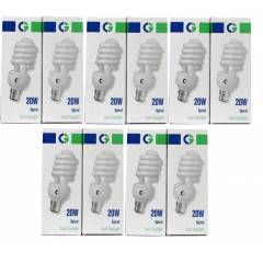 Crompton 20W B-22 Spiral DF CFL Cool Day Light (Pack of 10)