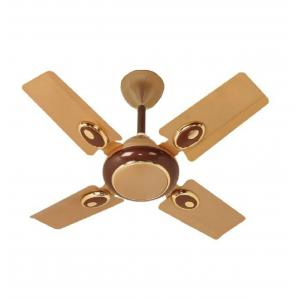 Brezo Gold 60W 4 Blade Golden Ceiling Fan, Sweep: 600 mm