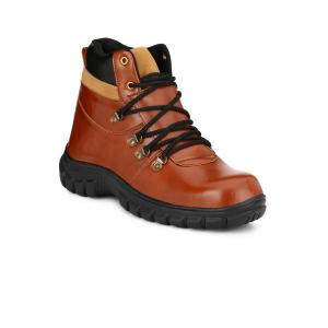 Eego Italy Z-WW-31 Steel Toe Tan Safety Boots, Size: 8
