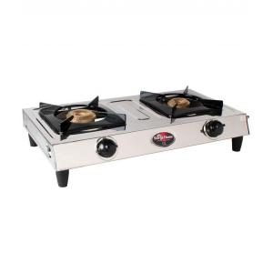 Surya Flame 2 Burner BPL Stainless Steel