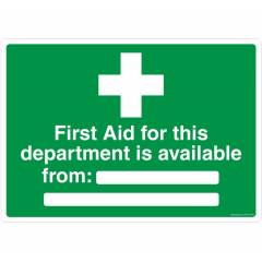 Safety Sign Store First Aid Available From  Sign Board, FE607-A4AL-01