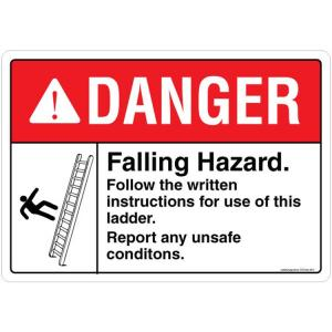 Safety Sign Store Danger: Falling Hazard Sign Board, SS234-A3AL-01
