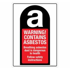 Safety Sign Store Warning: Asbestos Sign Board, CW712-A4V-01