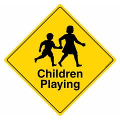 Safety Sign Store Slow Children Playing Sign Board, PS501-210AL-01