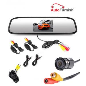 Autofurnish 4.3 Inch Rear View Mirror TFT LED Screen with Waterproof Reverse Parking Camera