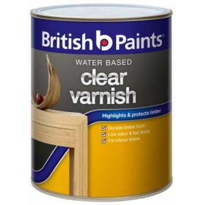 British Paints 50ml Supra Synthetic Clear Varnish