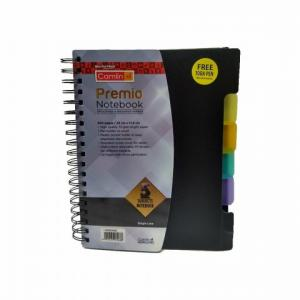 Camlin Kokuyo Premio 5 Subject B5 300 Pages Black Notebook, 1136303300