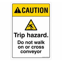 Safety Sign Store Caution: Trip Hazard Sign Board, SS622-A5PC-01