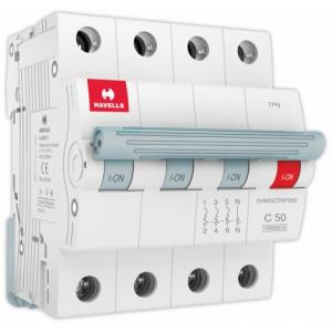 Havells Euro-II 50A TPN C Curve MCB, DHMGCTNF050