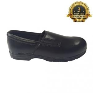 A.J High Tech Ladies Steel Toe Black Safety Shoes, Size: 5
