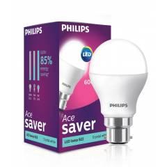 Philips 7W B-22 White LED Bulbs (Pack of 4)