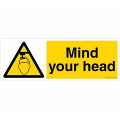 Safety Sign Store Mind Your Head Sign Board, CW606-2159V-01