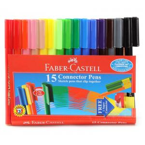 Faber-Castell Connector Pen Set, 153016 (Pack of 15)