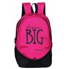 Polestar Big 36 Litre Pink & Black Polyester Laptop Backpack