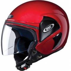 Studds Cub Motorsports Cherry Red Open Face Helmet, Size (Large, 580 mm)
