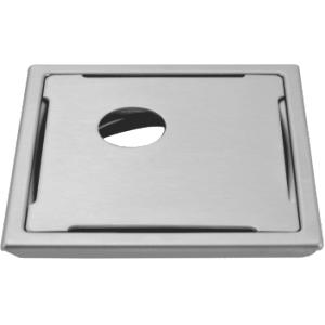 Addmore 150x150mm SS Round Cut Square Jali, JL-33
