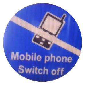 ITE 1x1 ft Retro Reflective Mobile Switching-Off Sign Board