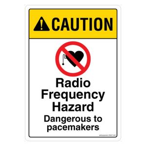 Safety Sign Store Caution Radio Frequency Hazard Board, SS637-A5V-01