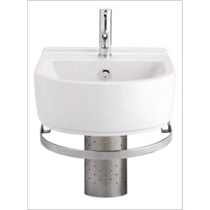 Cotto SC-0286 BETA Vanity Wash Basin with Chrome Frame and Stainless Trap Cover, Colour: Ivory