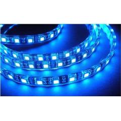 MTC Blue Waterproof and Cuttable LED Strip Light with Adapter, 5m
