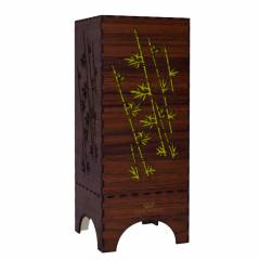 Dizionzrio DTBLBBR Yellow Handicrafts Wooden Look Hand Made Night Table Lamp