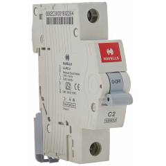 Havells EURO-II 63A C Curve SP MCB, DHMGCSPF063 (Pack of 12)