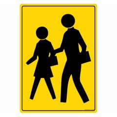 Safety Sign Store Pedestrian Crossing-Graphic Sign Board, FS127-A4PC-01