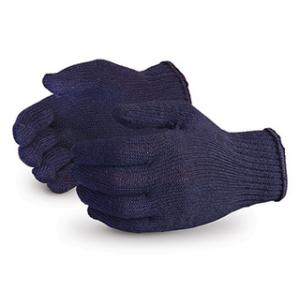 Noble 40g Blue Cotton Knitted Gloves (Pack of 120 Pairs)